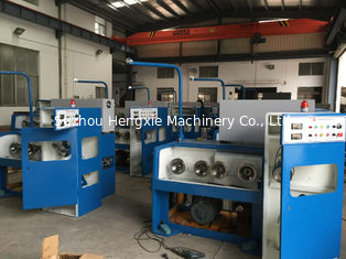 2000mpm Aluminium Wire Drawing Machine , 24DW Horizontal Type Wire Making Machine