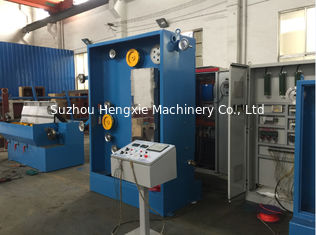 China Blue Intermediate Wire Drawing Machine , Wire Making Machine With Online Annealing supplier