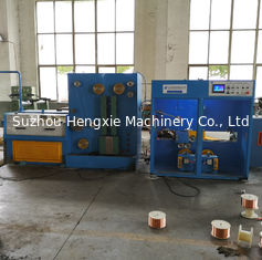 China 1500mpm Customized Wire Drawing Machine For Drawing And Annealing Automatic Double Spooler supplier