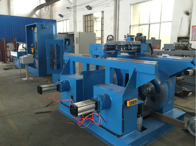 Blue Intermediate Wire Drawing Machine , Wire Making Machine With Online Annealing