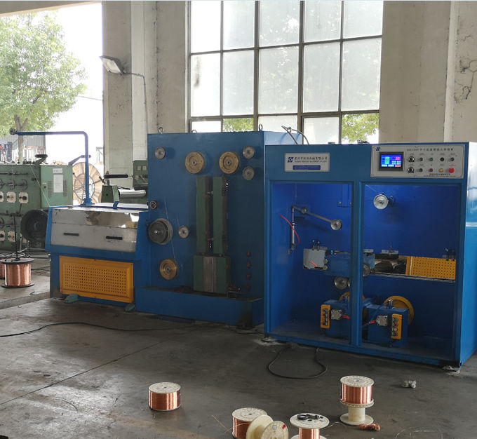1500mpm Customized Wire Drawing Machine For Drawing And Annealing Automatic Double Spooler